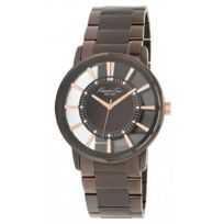 Kenneth Cole - Montre Transparency homme marron Ikc9047