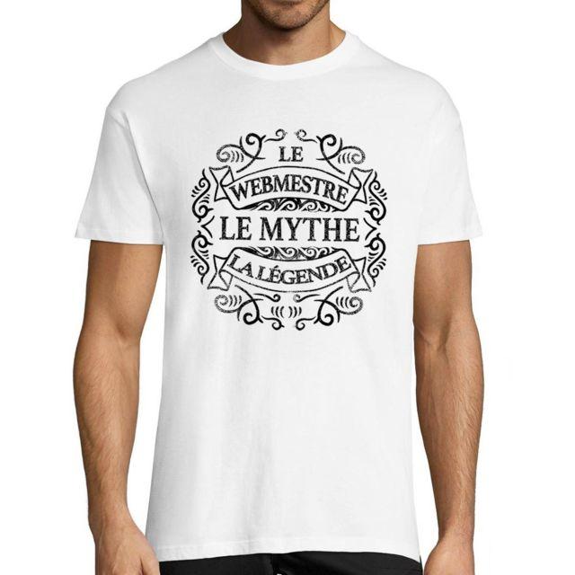 CLOSSET Webmestre Le Mythe La Légende | T-shirt Homme Métier Humour Fun et Drôle - Tshirt Idéal pour idée Cadeau Anniversaire, collègue Travail, fête des pères, Noël L