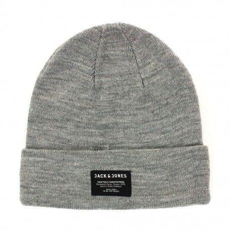 781b288e0403f Jack & Jones - Bonnet Gris - Taille unique - pas cher Achat / Vente  Casquettes, bonnets, chapeaux - RueDuCommerce
