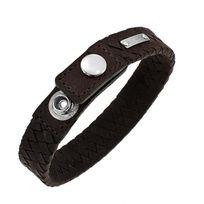 Oxbow - Bracelet Homme Nomad Spirit tresse serré à quatre brins cuir marron
