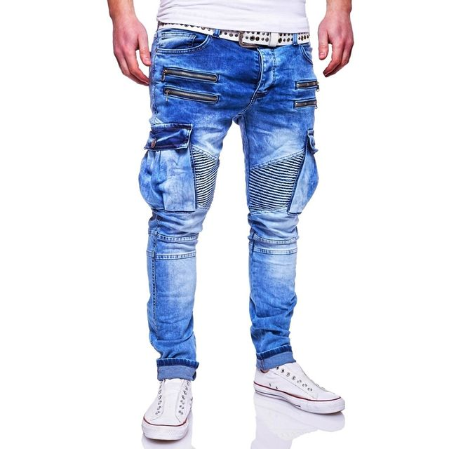 monsieurmode jeans cargo homme pantalon 96 bleu jeans pas cher achat vente jeans homme. Black Bedroom Furniture Sets. Home Design Ideas