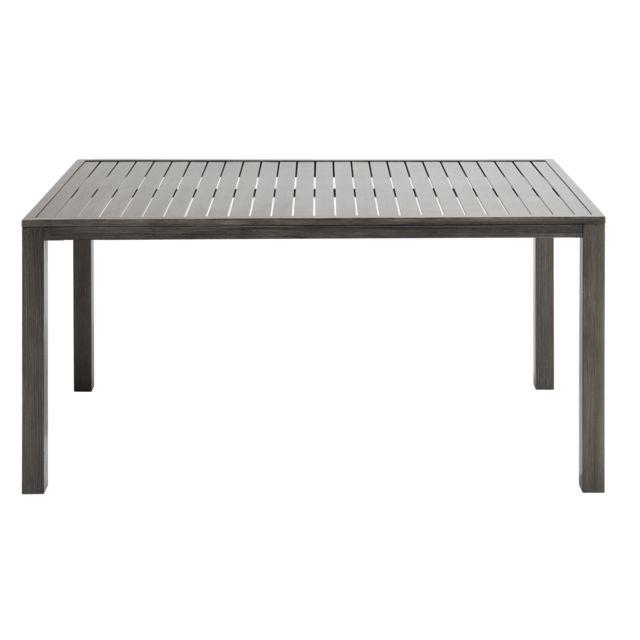 CARREFOUR - Table HONFLEUR - Aluminium - Gris - pas cher Achat ...