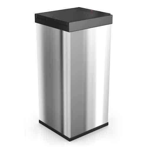 hailo poubelle de cuisine carr e manuelle 80l en inox big box touch inox pas cher achat. Black Bedroom Furniture Sets. Home Design Ideas