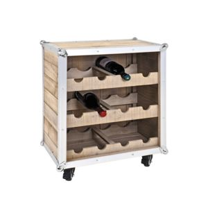 haku m bel range bouteilles roulettes pour le vin en pin alu 12 bouteilles teresina pas. Black Bedroom Furniture Sets. Home Design Ideas