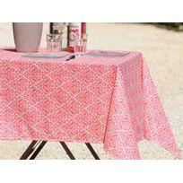Stof - Nappe ronde 100% coton enduit antitache motif rosace baroque D155cm Trulli - Grenadine