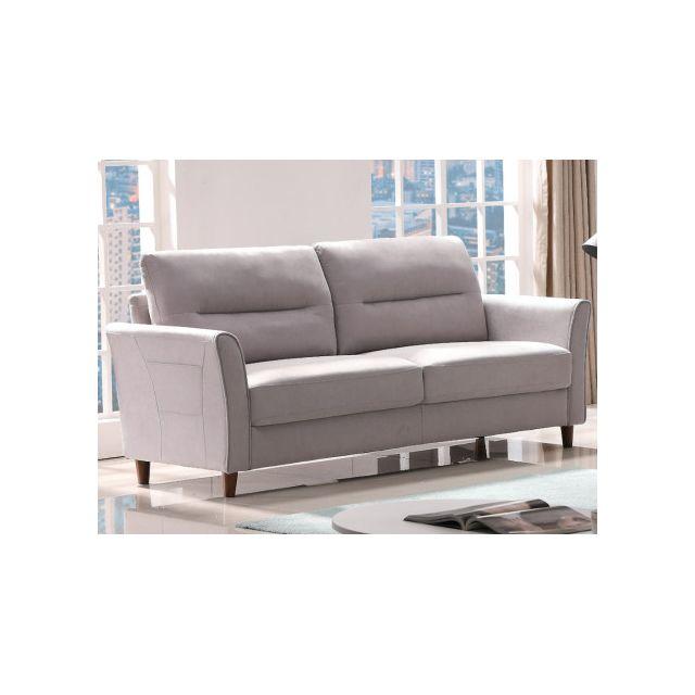 Canapé 3 places en tissu SIDONIE Gris clair