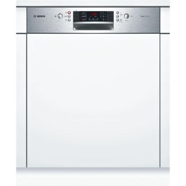 Bosch lave-vaisselle 60cm 13c 44db a++ intégrable avec bandeau inox - smi46js03e