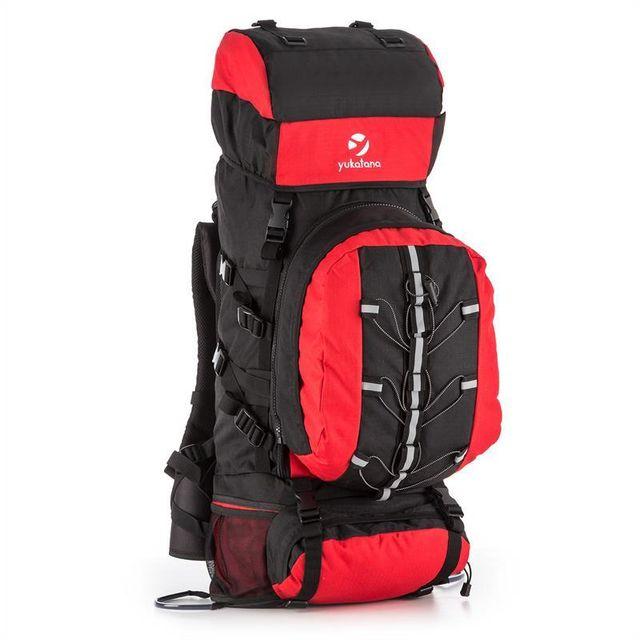 baskets pour pas cher a703b 77520 Almer Sac à dos randonnée trekking 80L 40x80x35cm rouge & noir