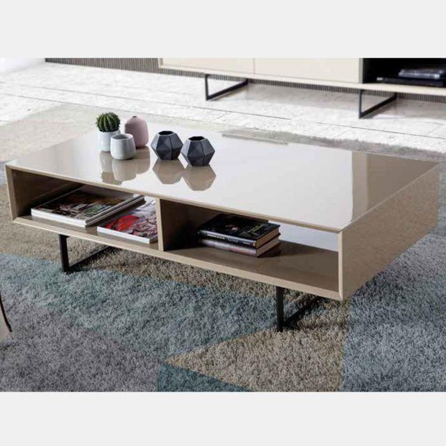Nouvomeuble Table basse design taupe Maite