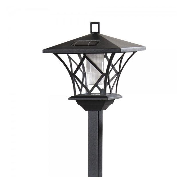 objets du mois lampadaire ext rieur planter sur pied ou suspendu 2 leds 150 cm noir. Black Bedroom Furniture Sets. Home Design Ideas
