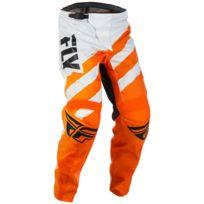 Fly Racing - Pantalon F-16 Orange Blanc