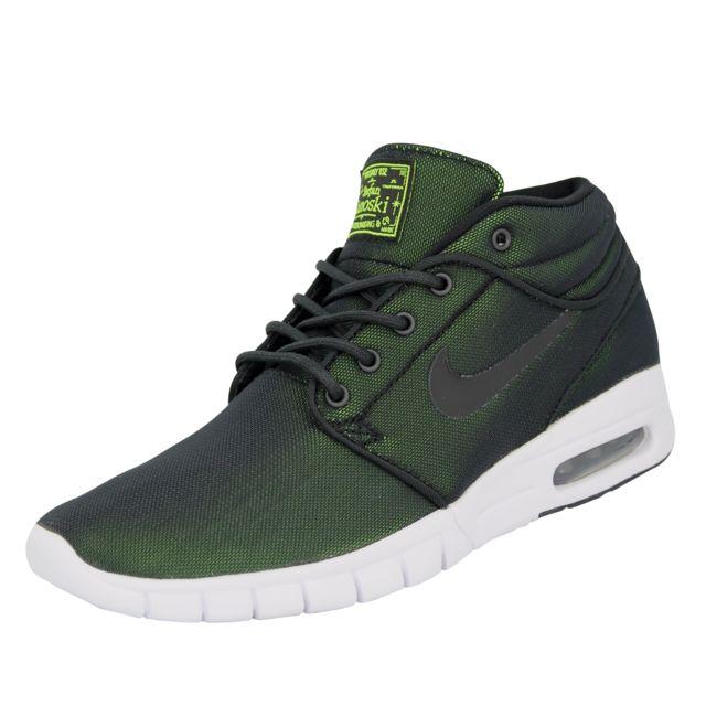 the best attitude 9906a a5922 Nike - Sb Stefan Janoski Max Mid Chaussures Mode Sneakers Homme Noir Vert -  pas cher Achat / Vente Baskets homme - RueDuCommerce