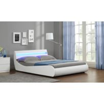 - Moon Lit Blanc Mat A Led En 140X190 Cm