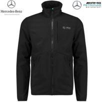 MERCEDES AMG - F1 Team Veste Softshell noir mi-saison 141181002-100 - Distributeur approuvé - Licence Officielle