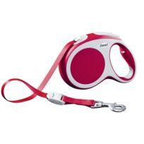 Flexi - Laisse Enrouleur Vario L 5M Sangle Rouge