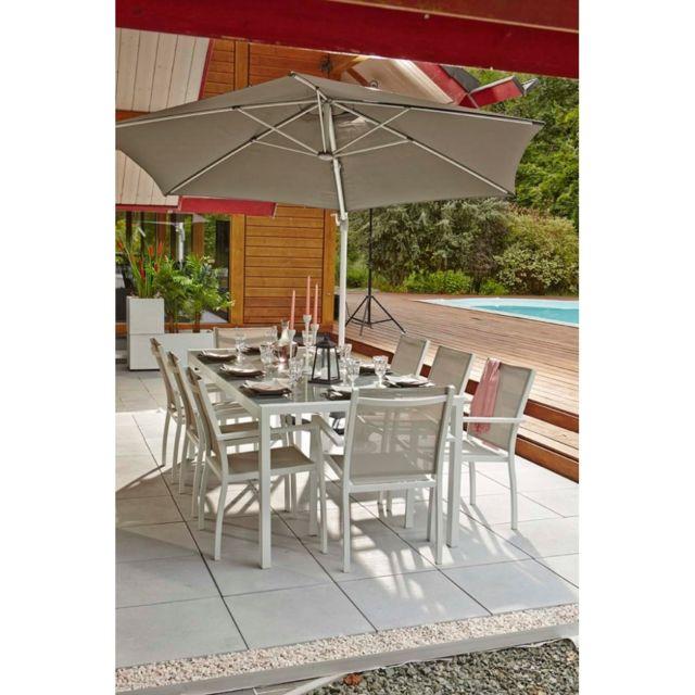 MARQUE GENERIQUE Table de jardin JOANNE blanche