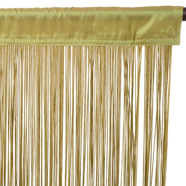 Thedecofactory - Rideau Filou à fils 90x200cm, Vert