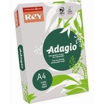 Rey - 336092 Adagio Ramette de 500 feuilles papier A4 pour Copieur/Laser/Jet d'encre 80 g Gris Lot de 5