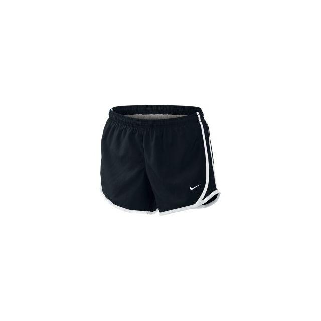 Nike - Short Tempo Short noir blanc fille - pas cher Achat   Vente ... be0e4636315