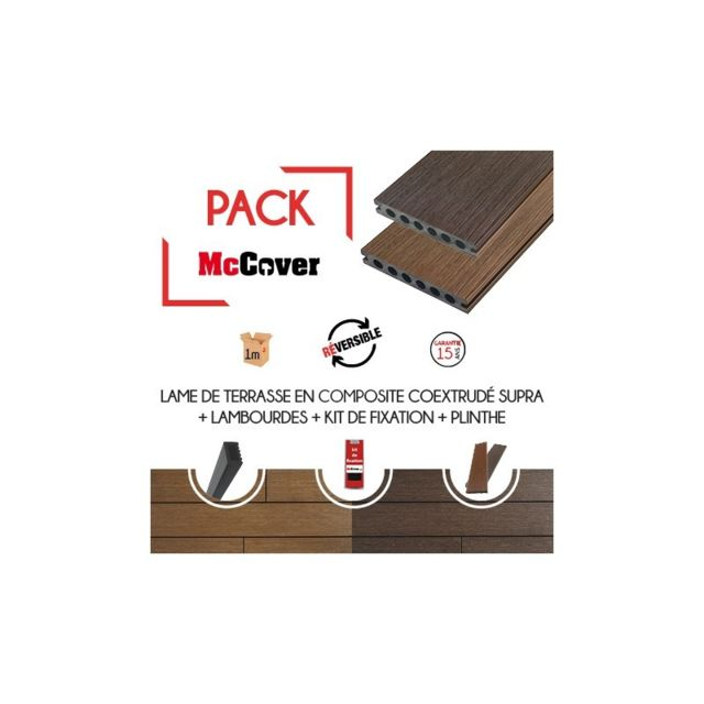 Mccover Pack 1 M Lame De Terrasse Composite Coextrude Supra Avec
