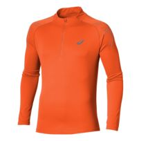 Asics - Stripe Ls Demi Zip Orange Maillot manches longues