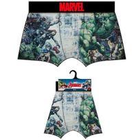 Marvel Comics - Marvel Boxer Homme Microfibre Avengers Bleu Vert