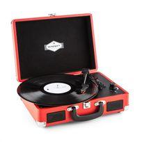 AUNA - Peggy Sue Tourne-disque rétro platine vinyle LP USB 33t/45t/78t ? rouge