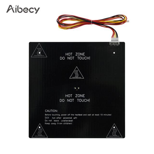 Generic Aibecy 24V Imprimante 3D Hotbed Mk3 Plate-forme chauffante Plaque en aluminium 235 235 3mm avec fil chauffant 90cm Compa