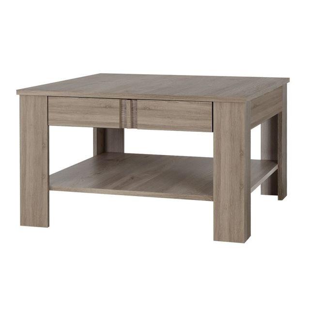 Table De Salon Table Basse Blanc Le Bois Décor Chêne Sonoma Brun