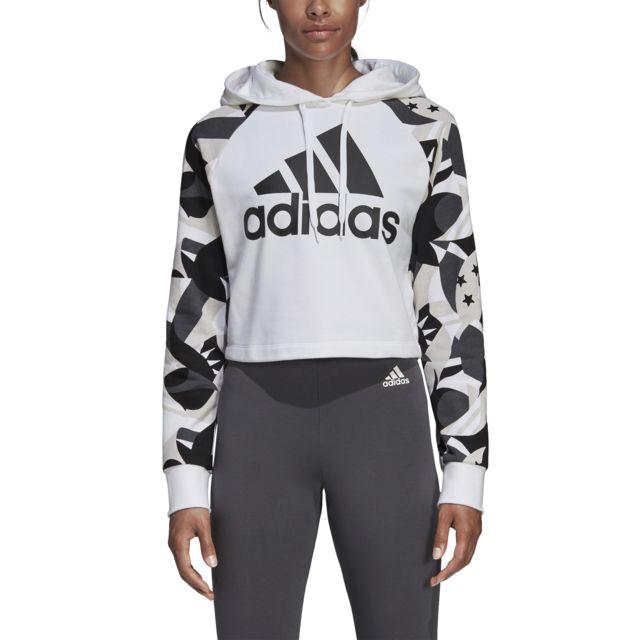 Adidas Sweat à capuche femme Sport Id Printed Crop pas