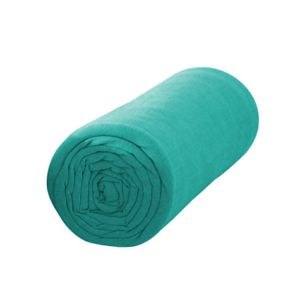 les douces nuits de ma drap housse boho 160x200 bleu atoll 100 coton 57fils cm2 160cm x. Black Bedroom Furniture Sets. Home Design Ideas