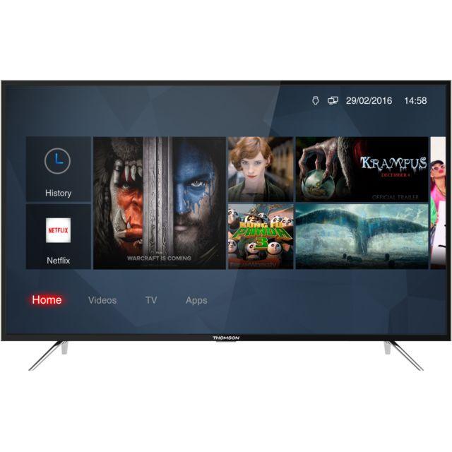 thomson tv led uhd 4k 65 165 cm 65uc6306 noir pas cher achat vente tv led de 56 39 39 65. Black Bedroom Furniture Sets. Home Design Ideas
