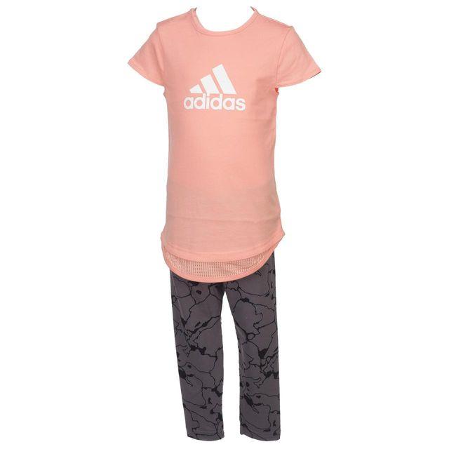 3392c2918207e Adidas - Ensemble set I girls set rose ant Rose 52391 NC - pas cher Achat   Vente  Ensembles - RueDuCommerce