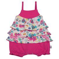 Petit Beguin - Barboteuse à bretelles et volants bébé fille Summertime - Taille - 9 mois 74 cm