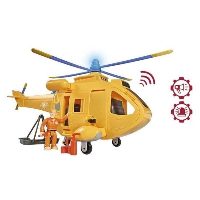 UNIVERS MINIATURE - HABITATION MINIATURE - GARAGE MINIATURE SAM LE POMPIER Hélicoptere Wallaby 2 + Sam