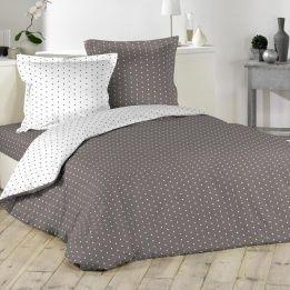 marque generique housse de couette 240 cm pixa marron 240cm x 220cm pas cher achat. Black Bedroom Furniture Sets. Home Design Ideas