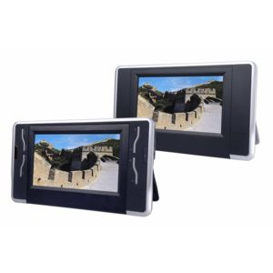mecer lecteur dvd portable 7 pouces 2 ecrans tablettes sd usb mpeg4 batterie integres. Black Bedroom Furniture Sets. Home Design Ideas