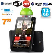 Yonis - Tablette tactile 3G Dual Sim 7 pouces Dual Core Bluetooth Gps 12 Go