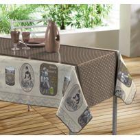 Decoline - Toile Cirée Rectangulaire nappe - 140 X 240 Cm - reclames chocolat