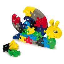 Small Foot Design - Puzzle Escargot Alphabet en bois