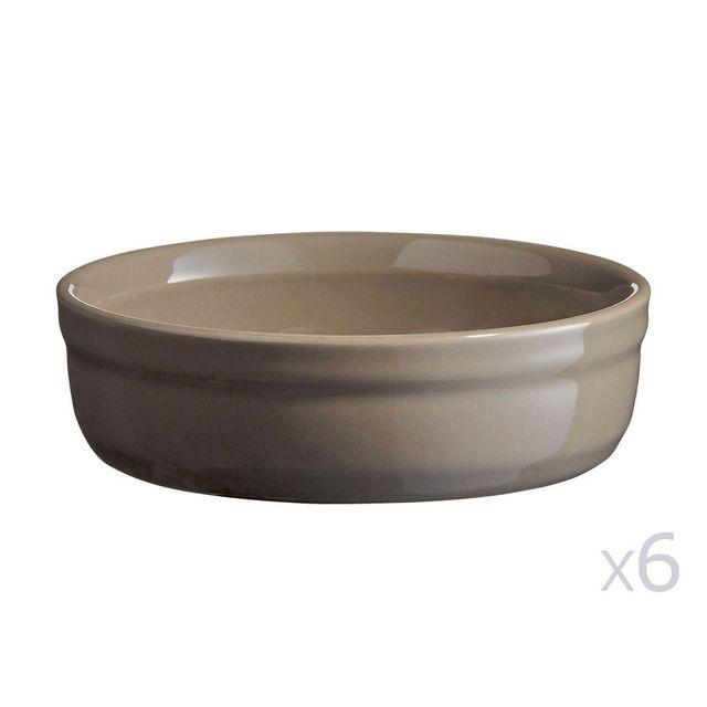 Emile Henry Plat à crème brûlée en céramique D.13xH.3.5cm - Lot de 6 pièces Le Four - Silex