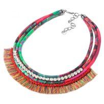 Desigual Bijoux - Collier et pendentif Desigual 61G55A7-3026-ROJO Fresa - Collier et pendentif Multicolore Cristal Femme