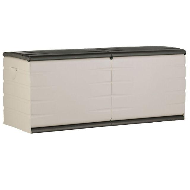 plastiken coffre de jardin plastique 500l anthracite pas cher achat vente coffres. Black Bedroom Furniture Sets. Home Design Ideas