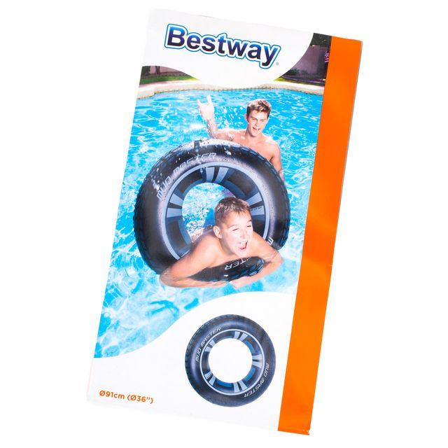 Best Way - Bouée gonflable baignade Bestway Mud master swim ring Noir 94861