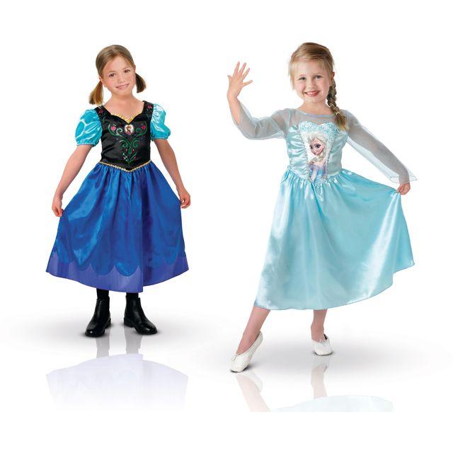 La Reine Des Neiges Lot de 2 déguisements Anna et Elsa - Taille 5-6 ans - I-888770 M