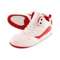 Maple - Basket montante homme af Pq 909 Blanc Rouge