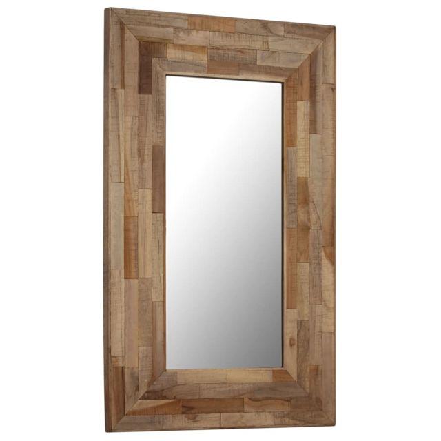 Vidaxl Miroir teck recyclé 50 x 80 cm