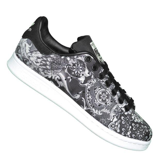 quality design 083e2 96f10 Adidas originals - Baskets - Stan Smith W S76667 - Noir Noir Blanc - pas  cher Achat   Vente Baskets femme - RueDuCommerce