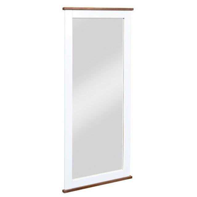Paris prix miroir rectangulaire albin 145cm blanc for Miroir paris