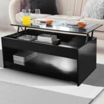 code promo 971a2 fc7b8 Table basse plateau relevable Soa bois noire